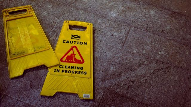 Who's responsible for slips, trips and falls?